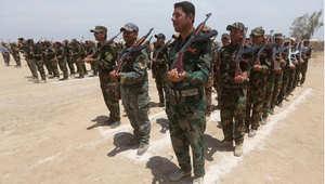 """قوات عراقية من المتطوعين السنة لمحاربة """"داعش"""" ، عامرية الفلوجة، 8 مايو/ أيار 2015"""