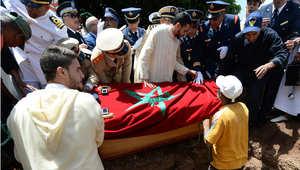 تشييع جنازة الطيار المغربي