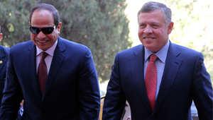 الملك عبدالله الثاني خلال استقباله الرئيس المصري عبدالفتاح السيسي، عمان 21 مايو/ أيار 2015