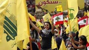 أنصار من حزب الله اللبناني يتجمعون في مدينة النبطية الجنوبية