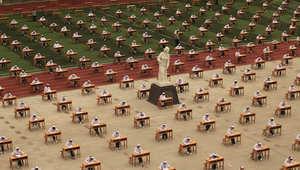 أثناء الامتحان