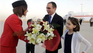 الأمير علي بن الحسين لدى عودته إلى عمان بعد انتخابات الفيفا، عمان 31 مايو/ أيار 2015