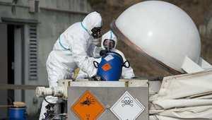 عملية تدمير الأسلحة السورية الكيميائية في منشأة بألمانيا