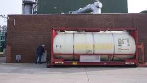 حاوية من المواد الكيماوية السورية