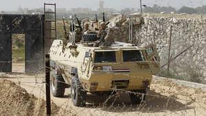 صورة ارشيفية لعناصر حرس الحدود المصري بالحدود مع غزة