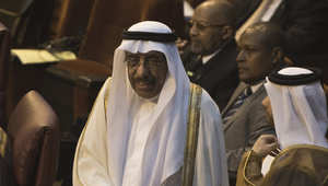 السفير القطري لدى مصر، سيف مقدم البوعينين خلال مشاركته في اجتماع وزراء الخارجية العرب في القاهرة 9 مارس/ آذار 2014