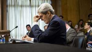 وزير الخارجية الأمريكي جون كيري في شاهدة أمام لجنة الشؤون الخارجية 8 أبريل/ نيسان 2014