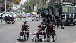 عناصر الشرطة المصرية في شوارع القاهرة - أرشيف