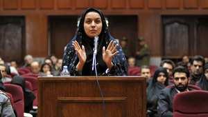 ريحانه جباري أمام المحكمة الإيرانية ديمسبر/ كانون الأول 2008