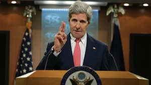 كيري: قطر شريك مهم بالتحالف الدولي ضد داعش ونشكر مساعدتهم بالشأن اليمني