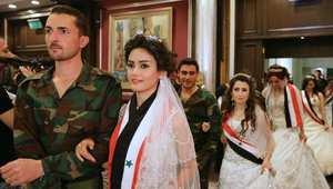 زواج جماعي لـ 20 جنديا في الجيش السوري نظم في دمشق في 29 أبريل/ نيسان 2014