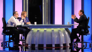 عبدالفتاح السيسي في مقابلة تلفزيونية قبل أن يتم انتخابه رئيسا لمصر