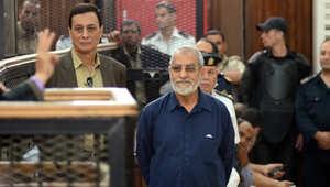 محاكمة المرشد العام للاخوان في مصر محمد بديع
