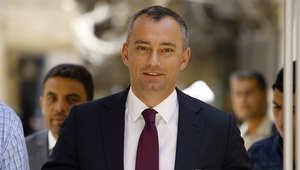 البلغاري نيكولاي ملادينوف مبعوث الأمم المتحدة للسلام في الشرق الأوسط والممل الشخصي للأمين العام لدى منظمة التحرير الفلسطينية والسلطة الوطنية