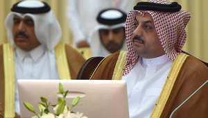 خالد بن محمد العطية وزير خارجية قطر في اجتماع وزراء خارجية مجلس التعاون بالرياض 2 يونيو/ حزيران 2014