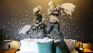 """فندق من تصميم """"بانكسي"""" يجسد الصراع الفلسطيني الإسرائيلي"""