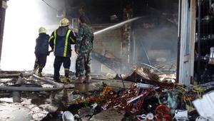 """حريق ضخم يقضي على نصف محلّات سوق """"العصرونية"""" الأثري بدمشق"""