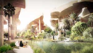 منتزه باريسي يسقط من السماء على رمال الصحراء في أبو ظبي