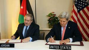 جون كيري وناصر جودة يوقعان اتفاقية أردنية أميركية لمكافحة تهريب المواد النووية والمشعة