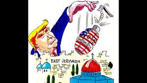 القدس في الكاريكاتير...