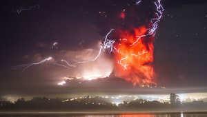 صور مرعبة لثوران بركانين في تشيلي هذا الأسبوع