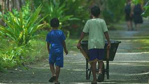 جزر ميكرونيزيا النائية.. حيث ينبهر الأطفال بالمكعبات الثلجية
