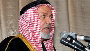 الشيخ حارث الضاري رئيس هيئة علماء المسلمين في العراق الذي أعلن عن وفاته الخميس 12 مارس/ آذار 2015