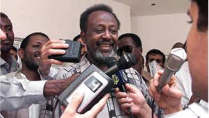 الرئيس الثاني لجيبوتي، اسماعيل عمر غولية، صورة أرشيفية 9 أبريل/ نيسان 1999