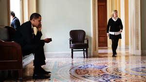 الرئيس الأمريكي باراك أوباما في مكالمة هاتفية