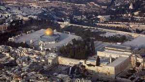 لقطة جوية للمسجد الأقصى وقبة الصخرة في القدس