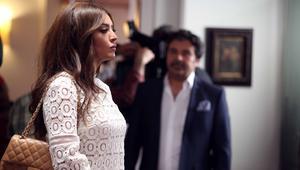 الممثلة الجزائرية أمل بوشوشة في دور عليا.