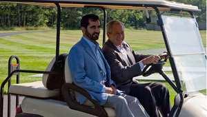 الرئيس الأمريكي جورج بوش مع الشيخ محمد بن راشد آل مكتوم حاكم دبي