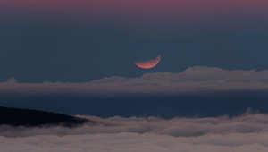 الخسوف الكلي للقمر كما بدا من جزيرة الكناري الاسبانية