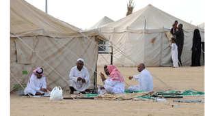 مشهد من مخيم النازحين في جيزان بسبب الحرب مع الحوثيين