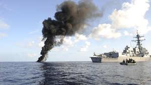 أرشيف - سفينة حربية أمريكية في خليج عدن