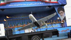 طائرة بلا طيار في عرض عسكري بإيران