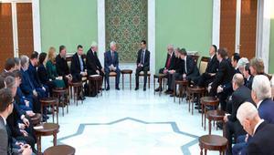 بشار الأسد يبين