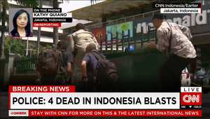 إندونيسيون يحاولون الهرب من منطقة الانفجار