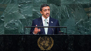 عبدالله بن زايد: اتخذنا إجراءات لدفع قطر لتغيير سلوكها.. ولا تسامح مع ممولي ومروجي الإرهاب
