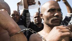 من مظاهرة لمهاجرين أفارقة في إسرائيل للمطالبة بتعزيز حقوقهم
