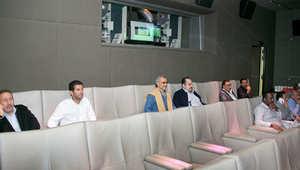 الملياردير السعودي الوليد بن طلال يتابع مباراة الهلال مع السد القطري
