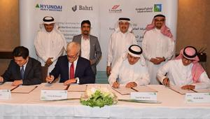 """""""أرامكو"""" توقع اتفاقاً لإنشاء أكبر مجمع بحري في الخليج.. وإحدى الشركات المساهمة: سيكلف 5.2 مليار دولار"""