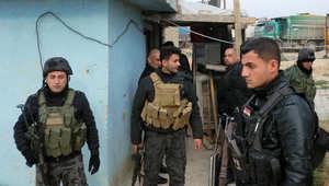 عناصر من الأمن العراقي قرب كركوك