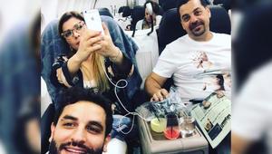 صورة نشرتها الفنانة السورية أصالة نصري بعد مغادرتها مطار بيروت الدولي