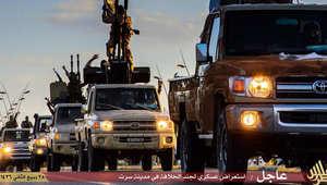 بالصور.. داعش بعرض عسكري في سرت بعد عرض المنوفية بليبيا