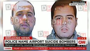 مصادر أمنية لـCNN: الاشتباه بصلة منفذي تفجيري مطار بروكسل الشقيقان إبراهيم وخالد بكراوي بهجمات باريس