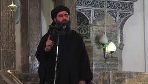 """البغدادي بخطبة الجمعة بعد تنصيبه كـ""""خليفة"""" من قبل داعش: أطيعوني.. وليت عليكم ولست بخيركم.. لا أعدكم كما يعد الملوك والحكام بالرخاء والرفاهية"""