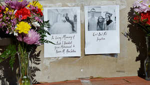 جانب من تكريم ذكرى الضحايا الثلاثة: ضيا، ويسر، ورزان
