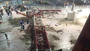 بالصور.. آثار سقوط رافعة في الحرم المكي