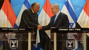 شكري: زيارتي إلى إسرائيل في إطار رؤية السيسي.. ونتنياهو: اتفاق السلام مع مصر حجر الأساس للاستقرار